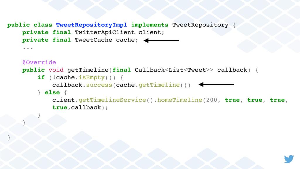 public class TweetRepositoryImpl implements Twe...