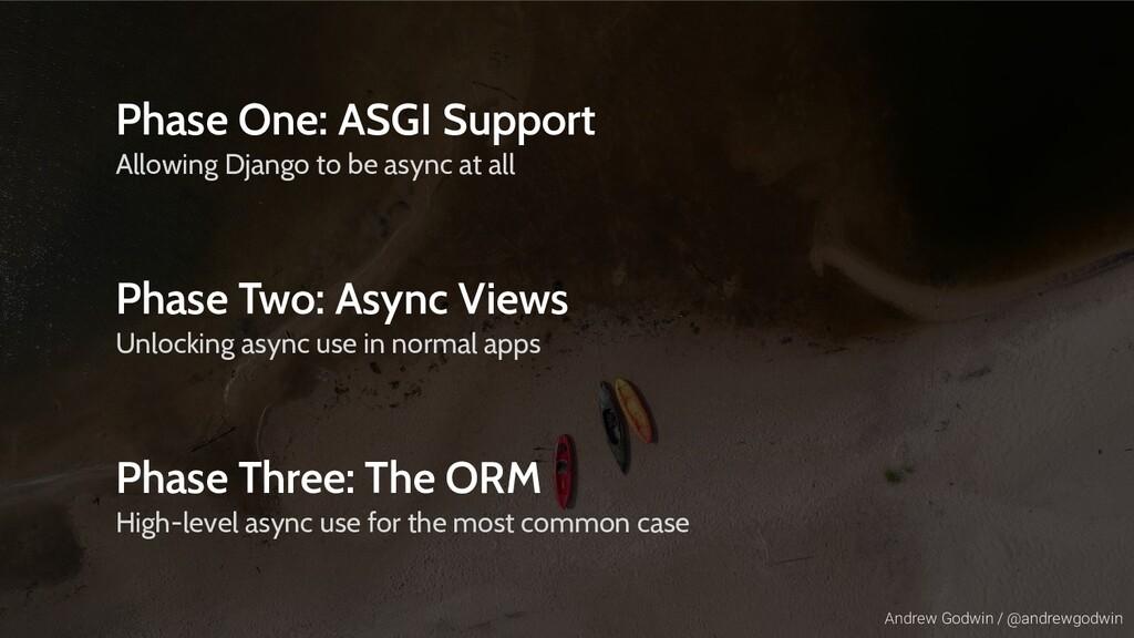 Andrew Godwin / @andrewgodwin Phase One: ASGI S...