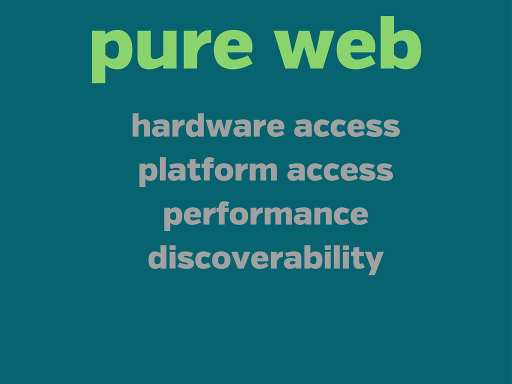 pure web hardware access plat orm access per or...