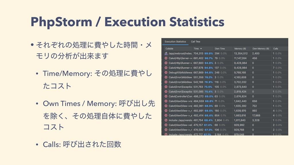 PhpStorm / Execution Statistics • ͦΕͧΕͷॲཧʹඅͨ͠...