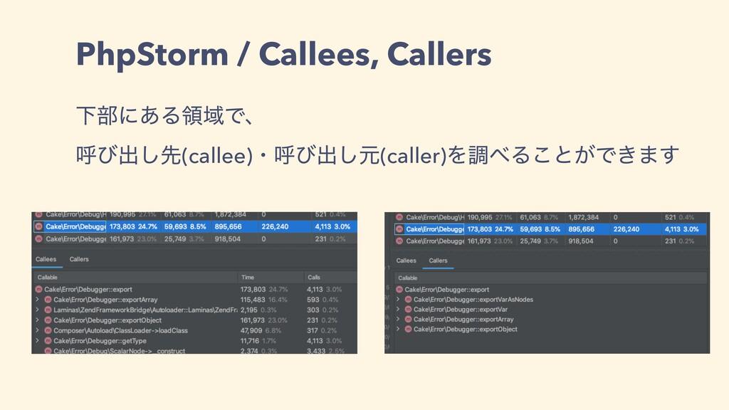 PhpStorm / Callees, Callers Լ෦ʹ͋ΔྖҬͰɺ ݺͼग़͠ઌ(cal...