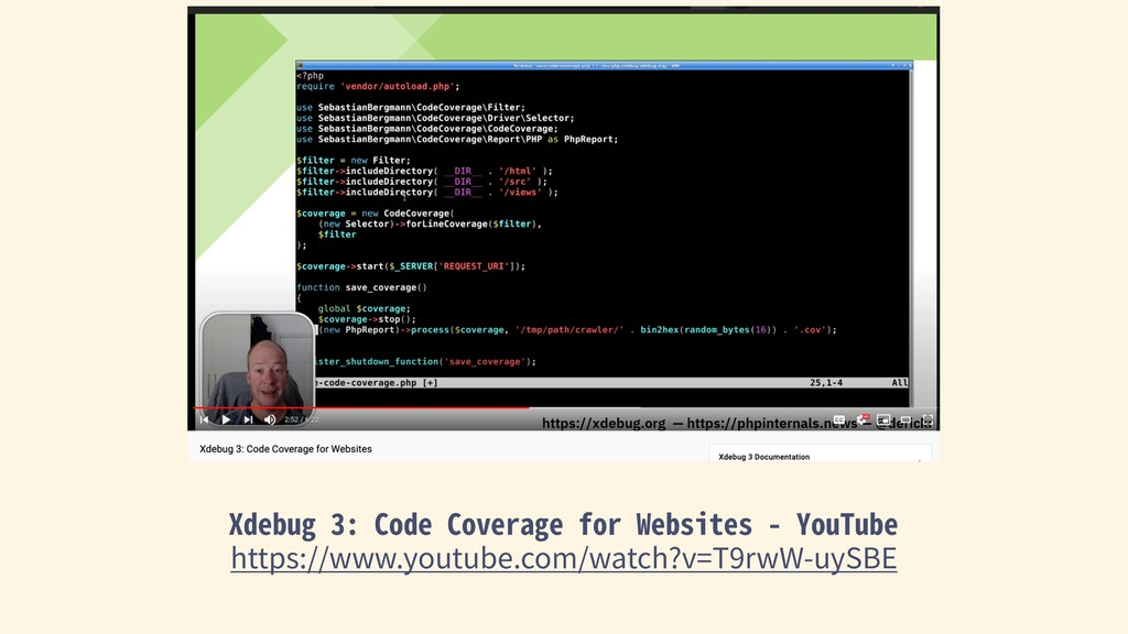 Xdebug 3: Code Coverage for Websites - YouTube ...