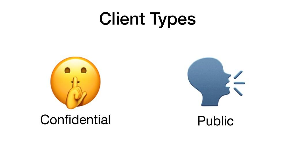 Client Types Public  Confidential