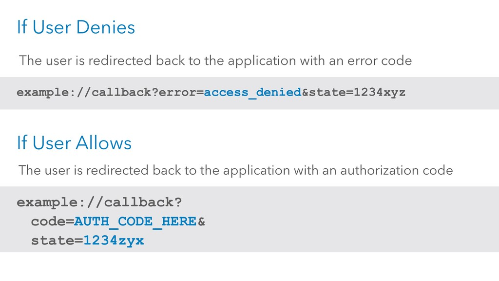 The user is redirected back to the application ...