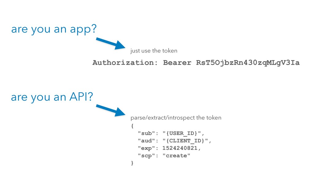 are you an app? are you an API? Authorization: ...