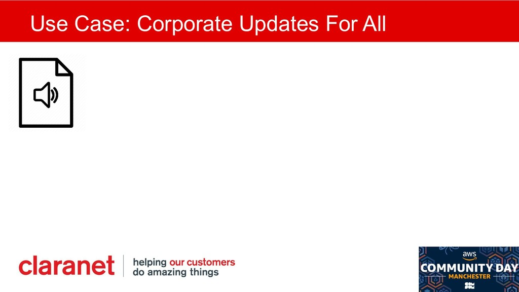 Use Case: Corporate Updates For All