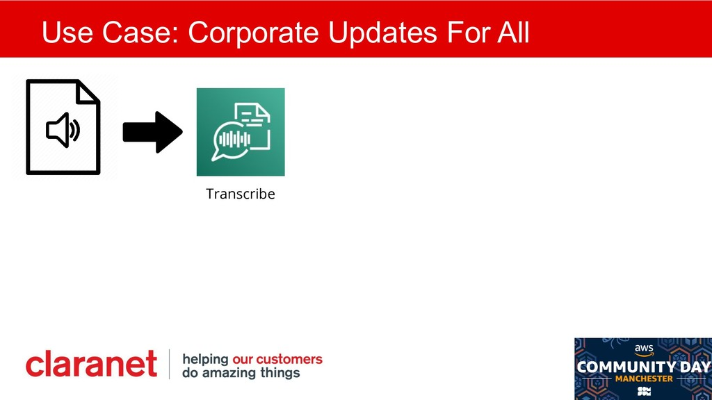 Use Case: Corporate Updates For All Transcribe