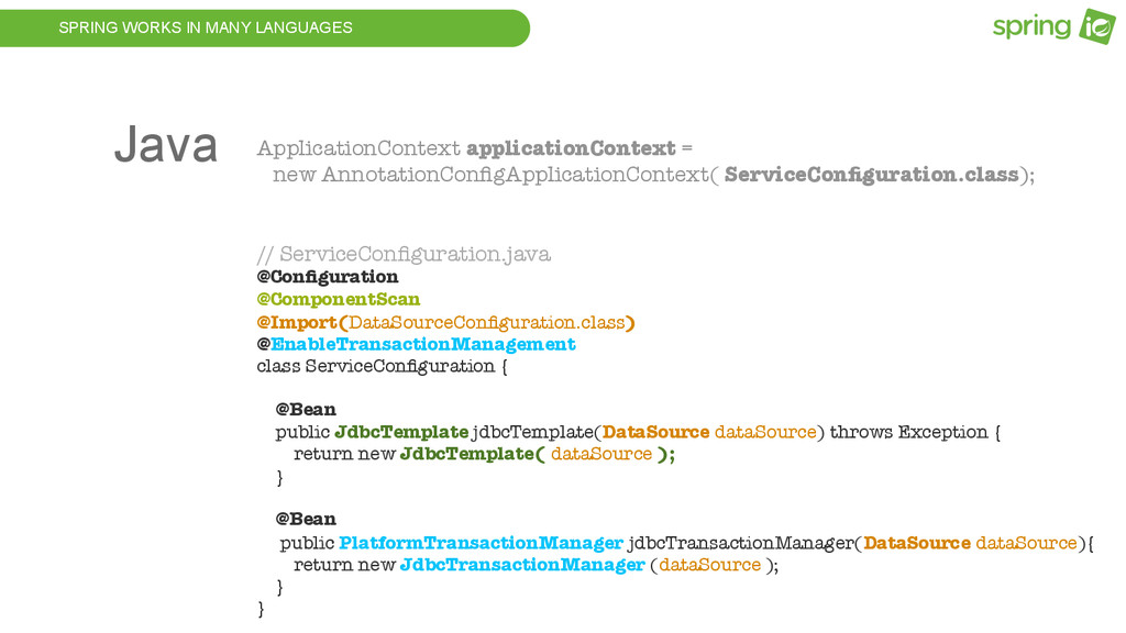 SPRING WORKS IN MANY LANGUAGES ApplicationConte...
