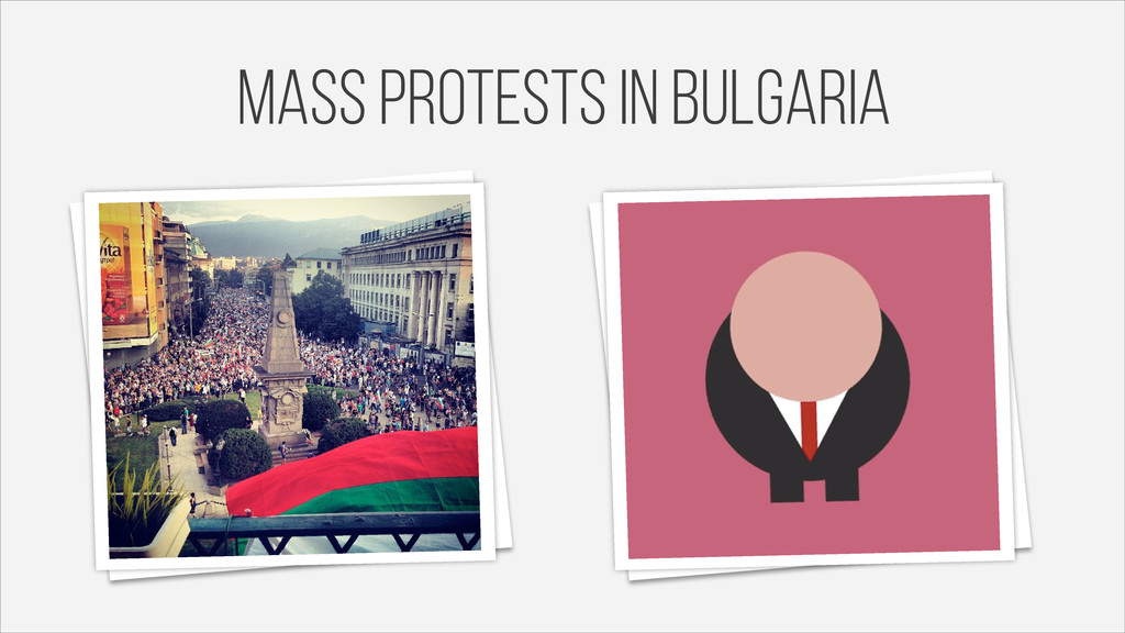 mass protests in Bulgaria