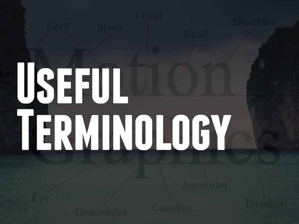 Useful Terminology