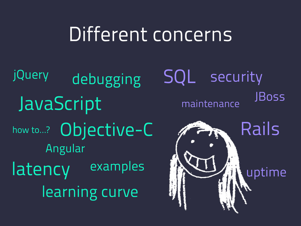 Different concerns maintenance Rails SQL JBoss ...