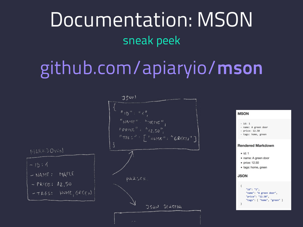 Documentation: MSON sneak peek github.com/apiar...