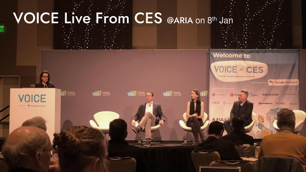 VOICE Live From CES @ARIA on 8th Jan