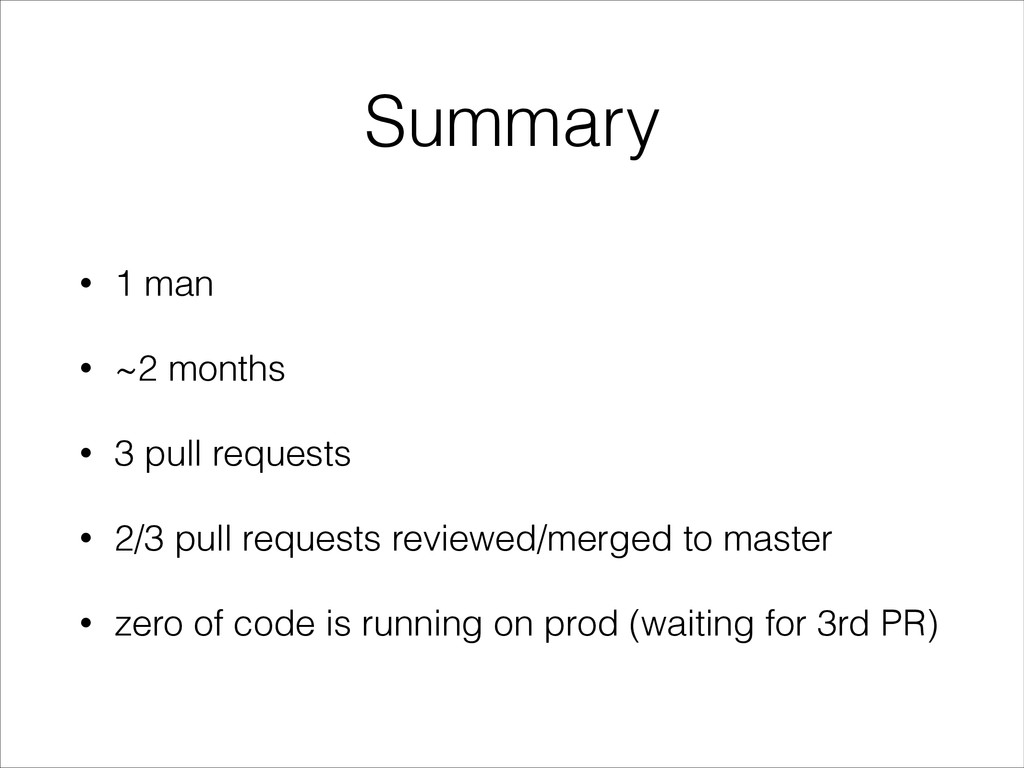 Summary • 1 man • ~2 months • 3 pull requests •...