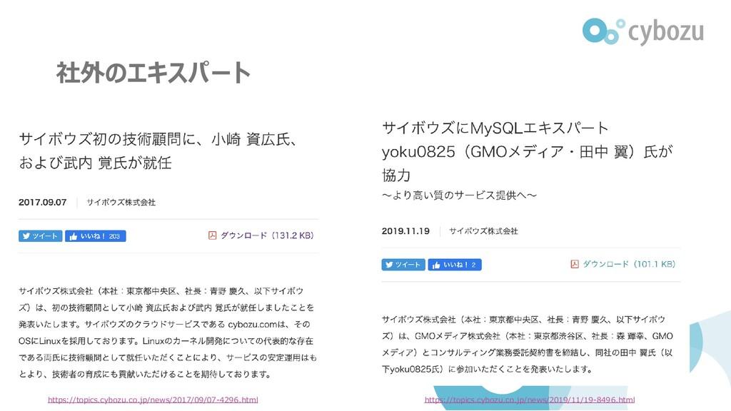 社外のエキスパート https://topics.cybozu.co.jp/news/2017...