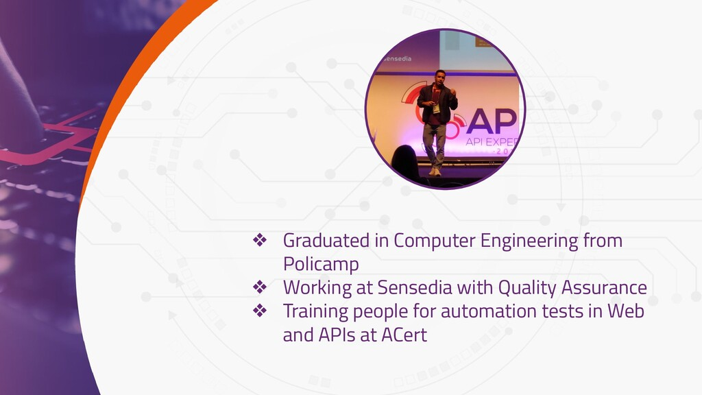 1 ❖ Graduated in Computer Engineering from Poli...