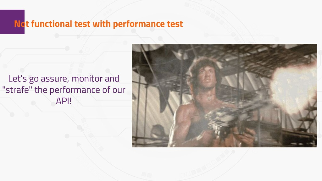 1 Not functional test with performance test Let...