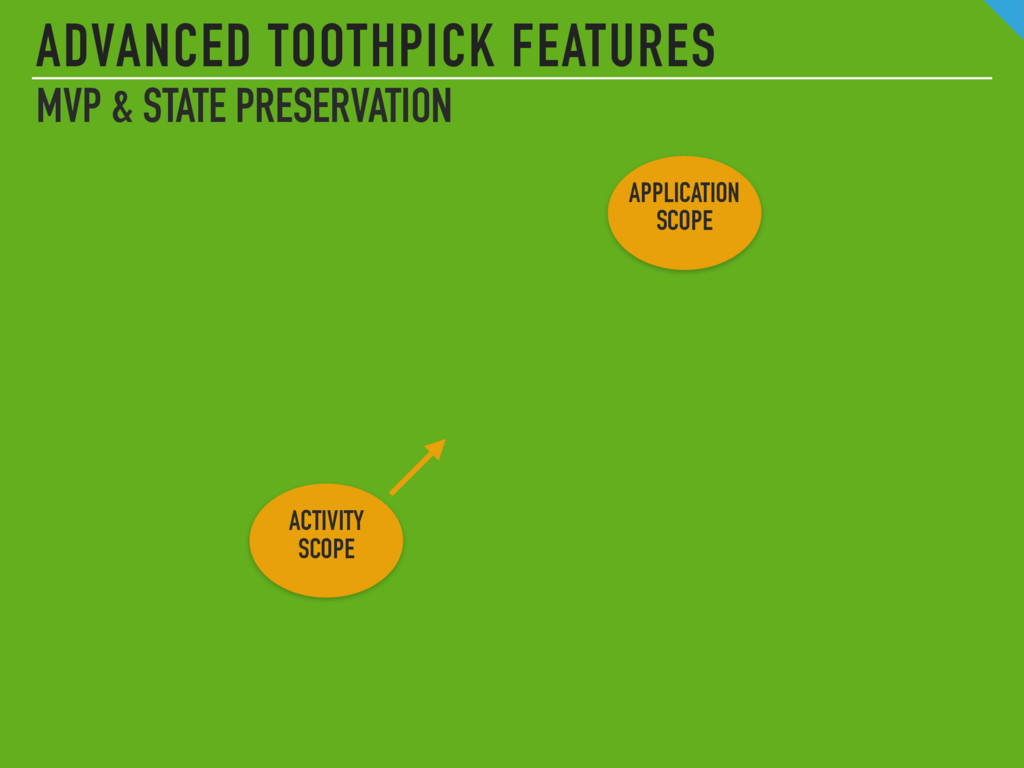 APPLICATION SCOPE ADVANCED TOOTHPICK FEATURES M...