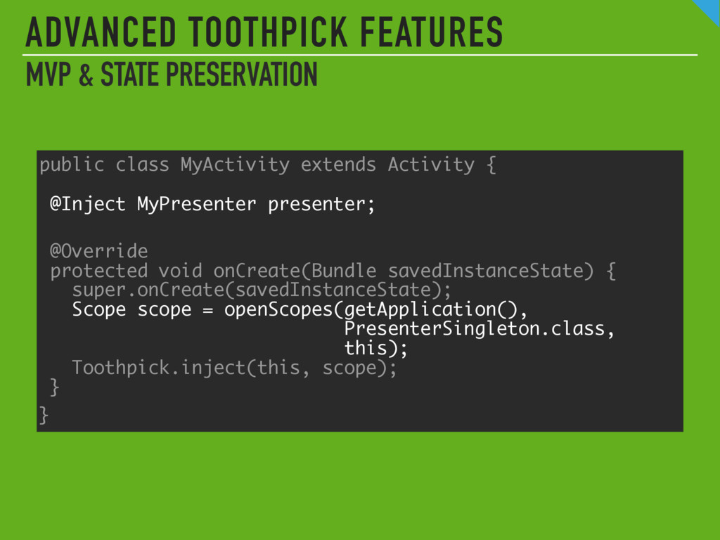 ADVANCED TOOTHPICK FEATURES MVP & STATE PRESERV...