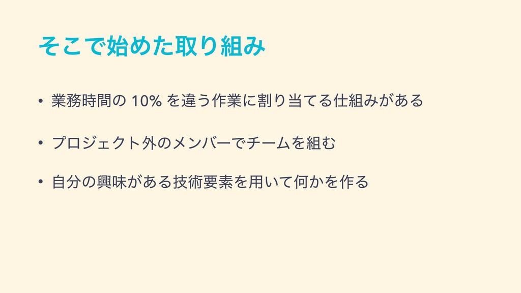 ͦ͜ͰΊͨऔΓΈ • ۀؒͷ 10% Λҧ͏࡞ۀʹׂΓͯΔΈ͕͋Δ • ϓϩδΣ...
