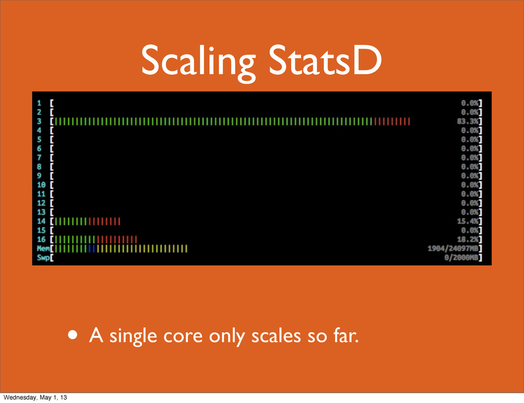 Scaling StatsD • A single core only scales so f...