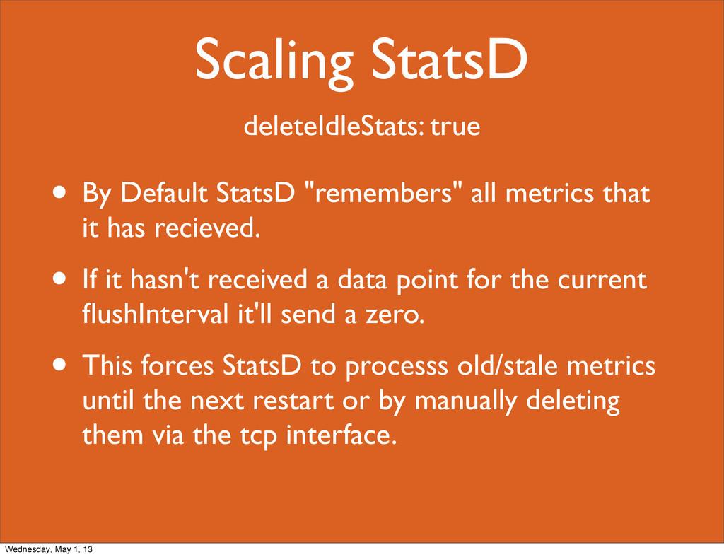 Scaling StatsD deleteIdleStats: true • By Defau...