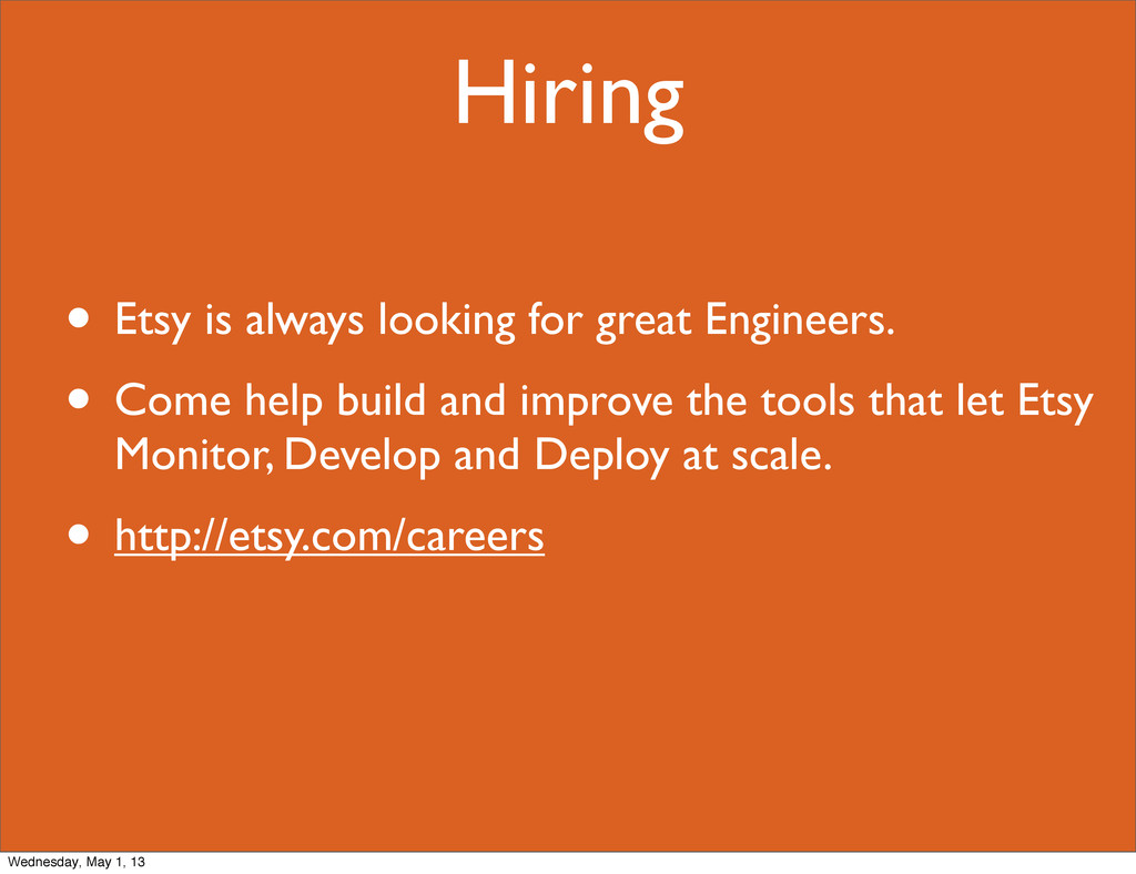 Hiring • Etsy is always looking for great Engin...