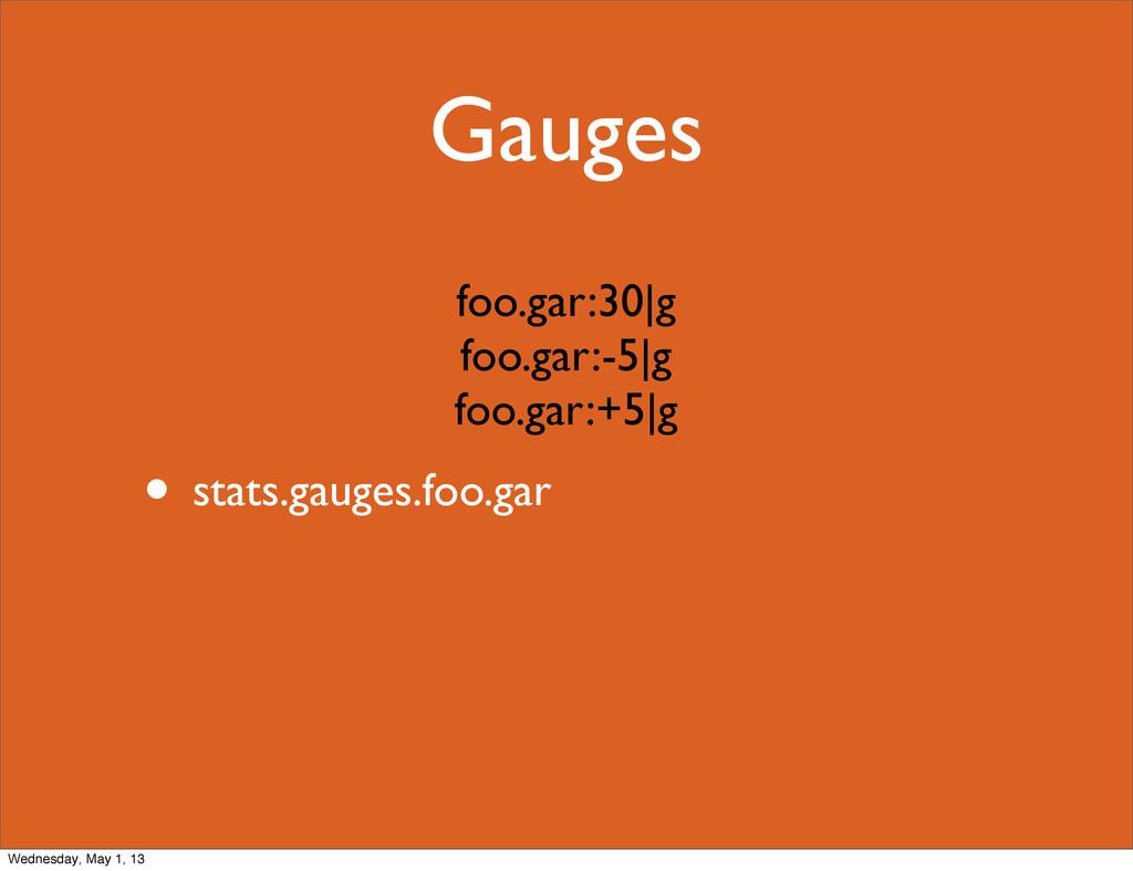 Gauges • stats.gauges.foo.gar foo.gar:30|g foo....