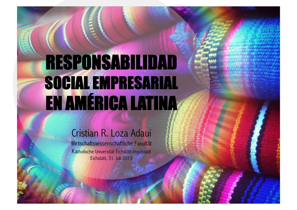 RESPONSABILIDAD SOCIAL EMPRESARIAL EN AMÉRICA L...