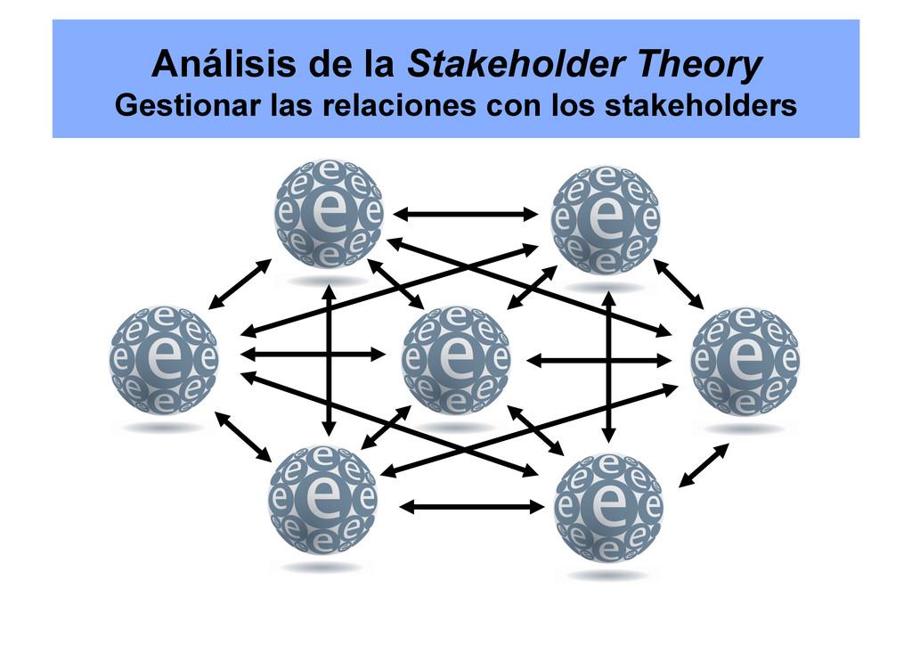 Análisis de la Stakeholder Theory Gestionar las...