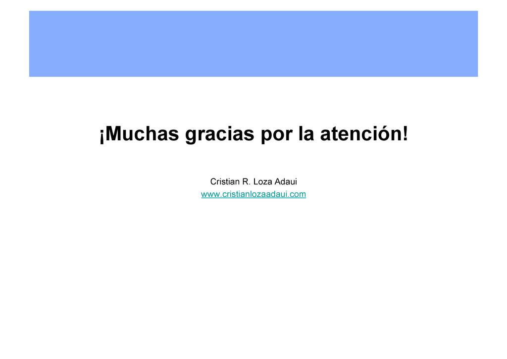 ¡Muchas gracias por la atención! Cristian R. Lo...