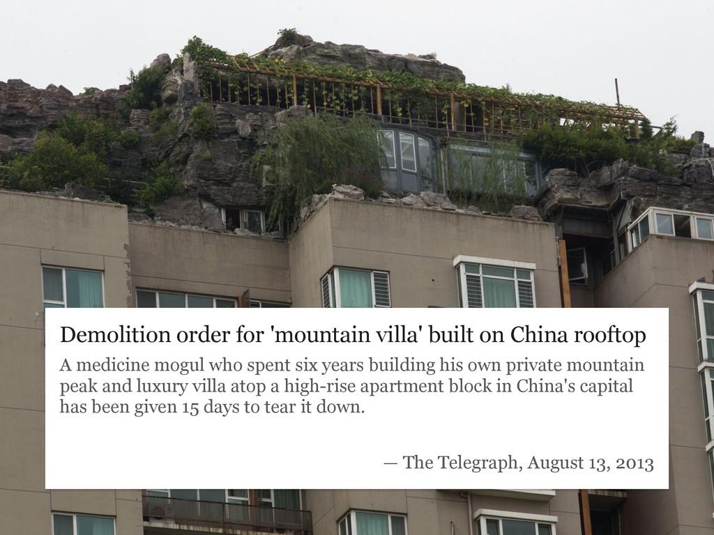 Demolition order for 'mountain villa' built on ...