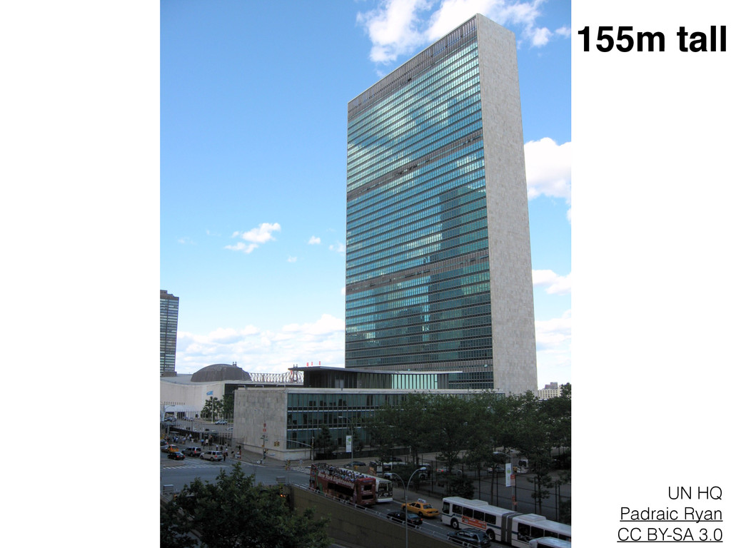 UN HQ Padraic Ryan CC BY-SA 3.0 155m tall