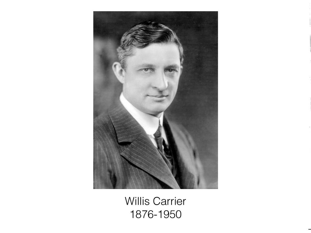 Willis Carrier 1876-1950