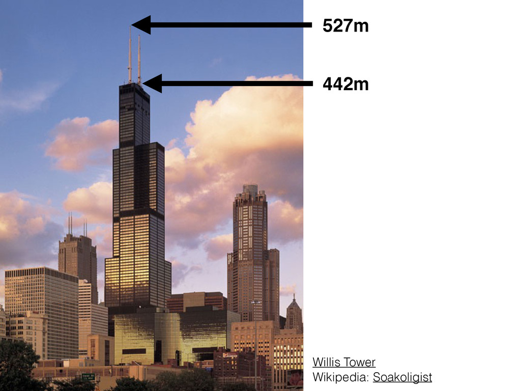 442m 527m Willis Tower Wikipedia: Soakoligist
