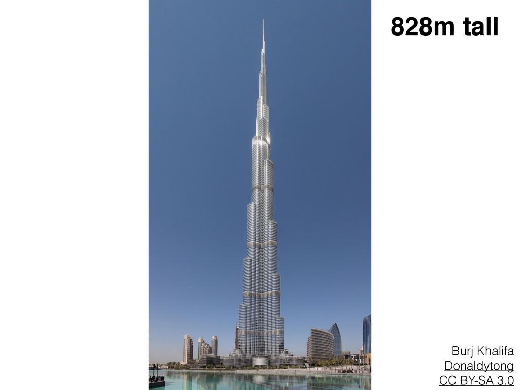 Burj Khalifa Donaldytong CC BY-SA 3.0 828m tall