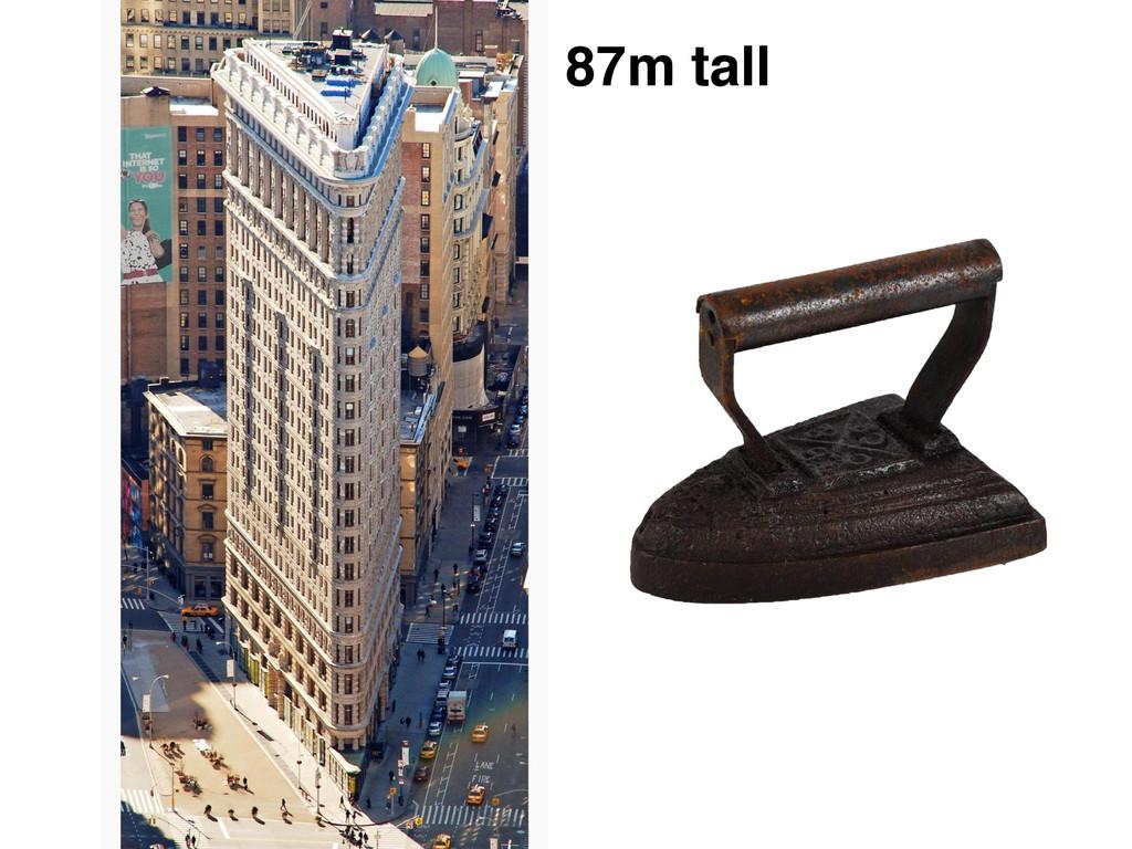 87m tall