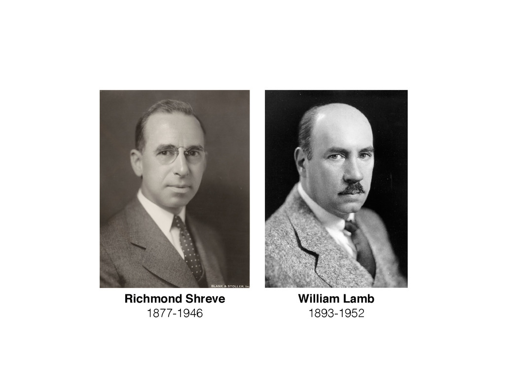 Richmond Shreve 1877-1946 William Lamb 1893-1952