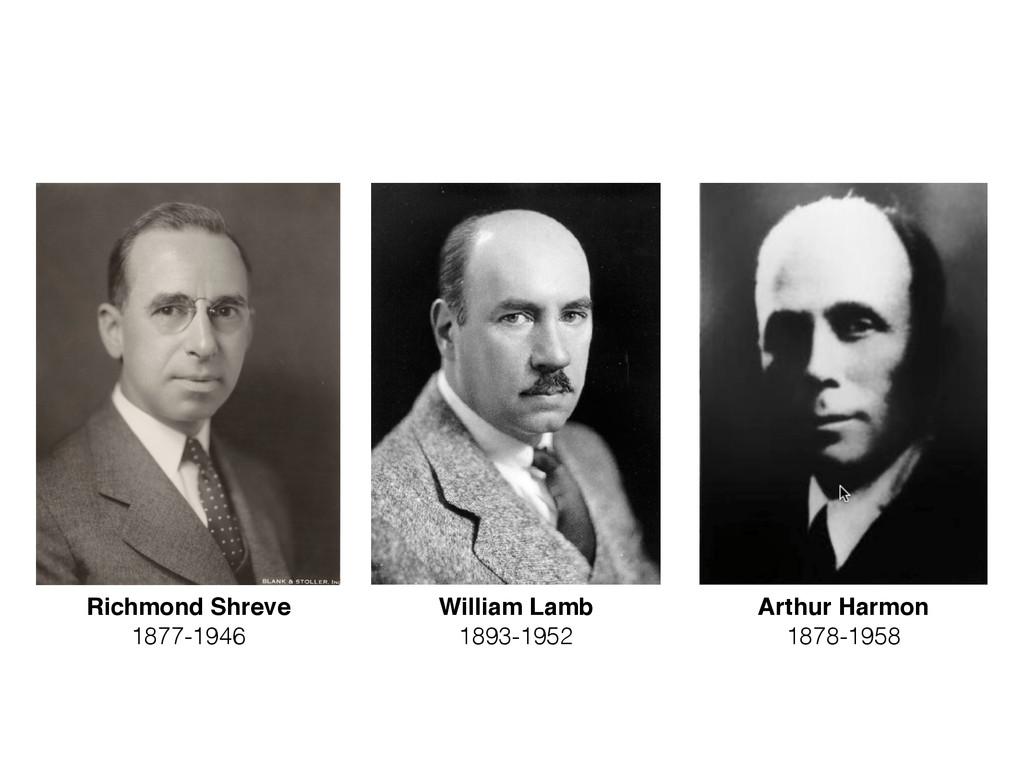 Richmond Shreve 1877-1946 William Lamb 1893-195...