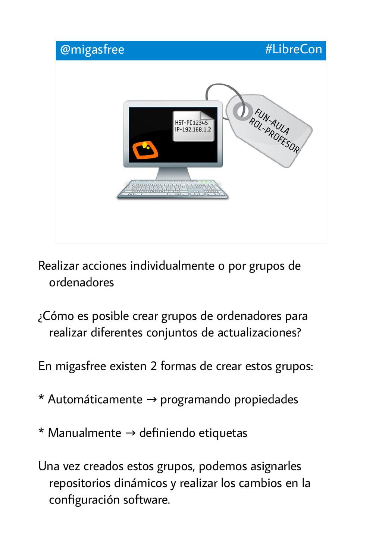 FUN-AULA ROL-PROFESOR @migasfree #LibreCon HST-...