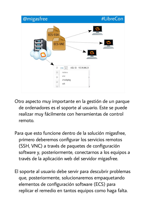 ECS-SSH @migasfree #LibreCon ECS-VNC Otro aspec...