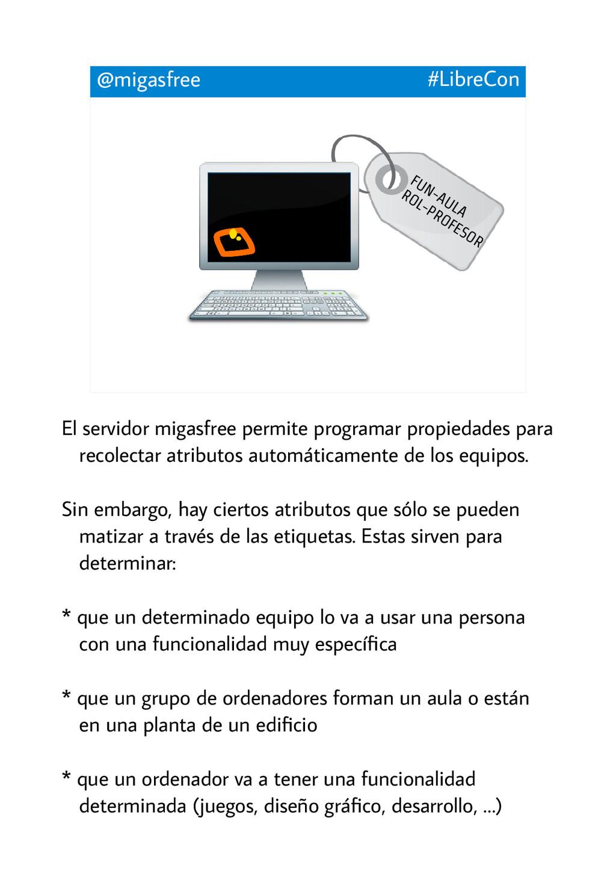 @migasfree #LibreCon FUN-AULA ROL-PROFESOR El s...
