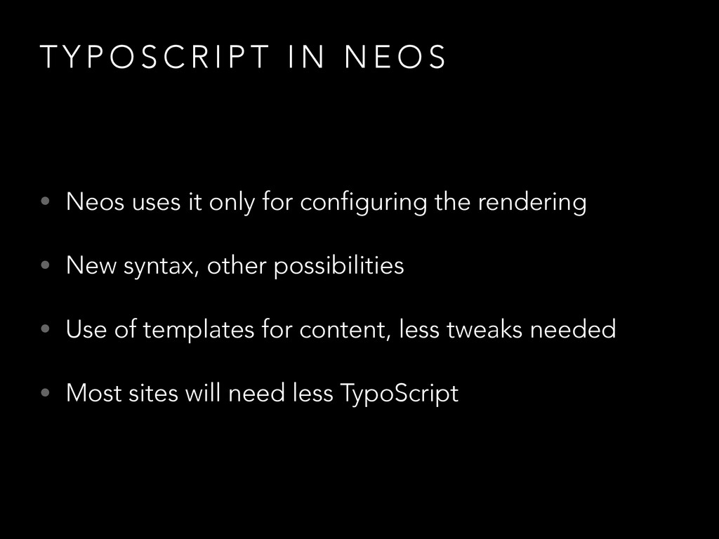 T Y P O S C R I P T I N N E O S • Neos uses it ...