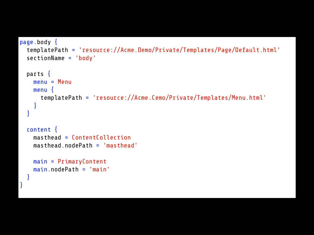 page.body { templatePath = 'resource://Acme.Dem...