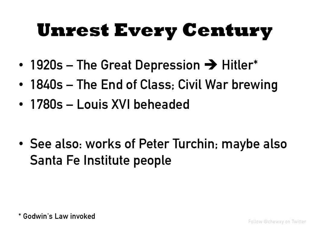 Unrest Every Century • 1920s – The Great Depre...