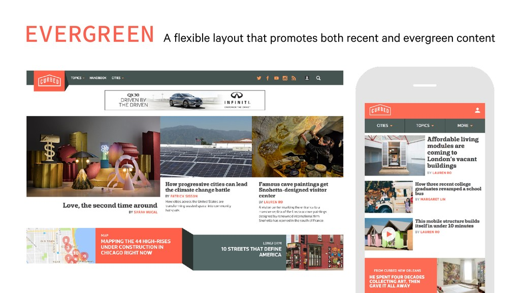 EVERGREEN A flexible layout that promotes both ...