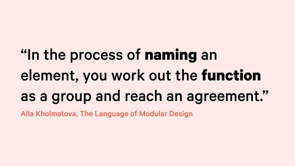 """In the process of naming an element, you work ..."