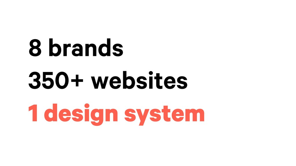 8 brands 350+ websites 1 design system