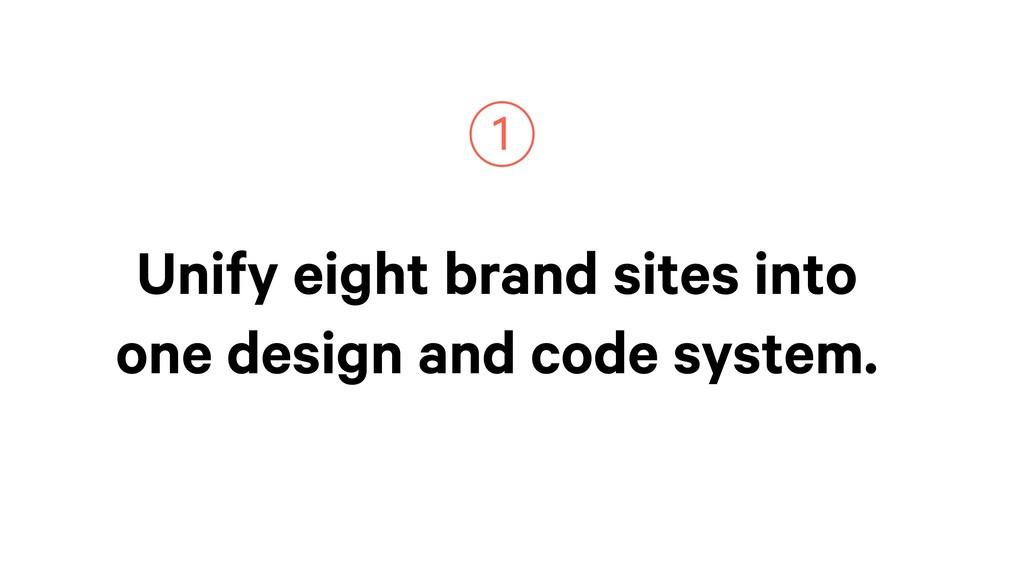 Unify eight brand sites into one design and cod...