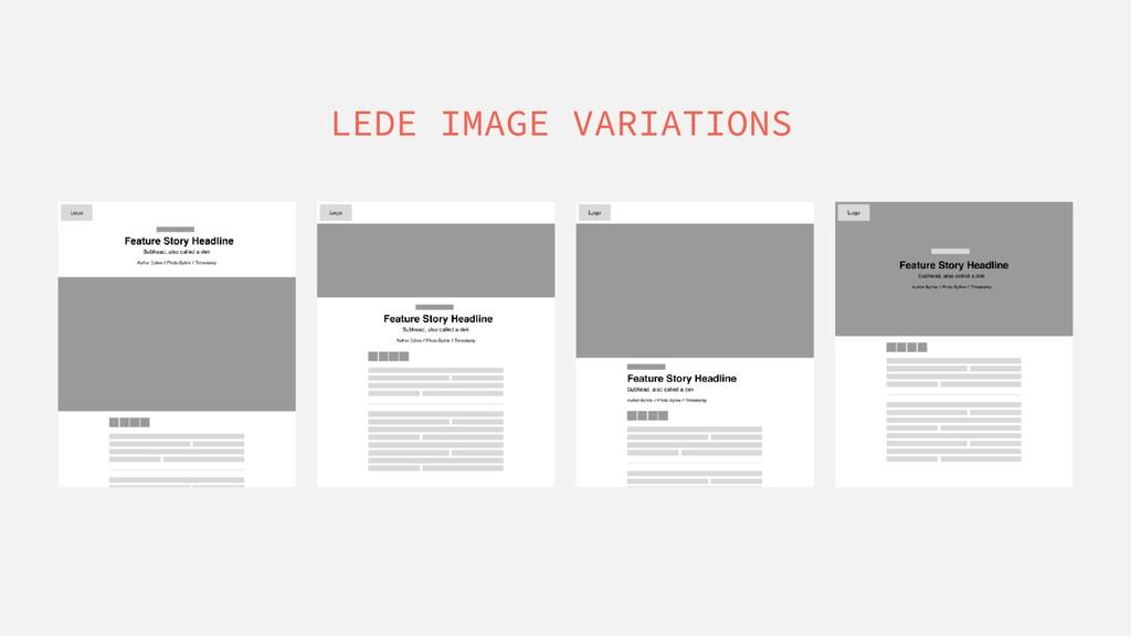 LEDE IMAGE VARIATIONS
